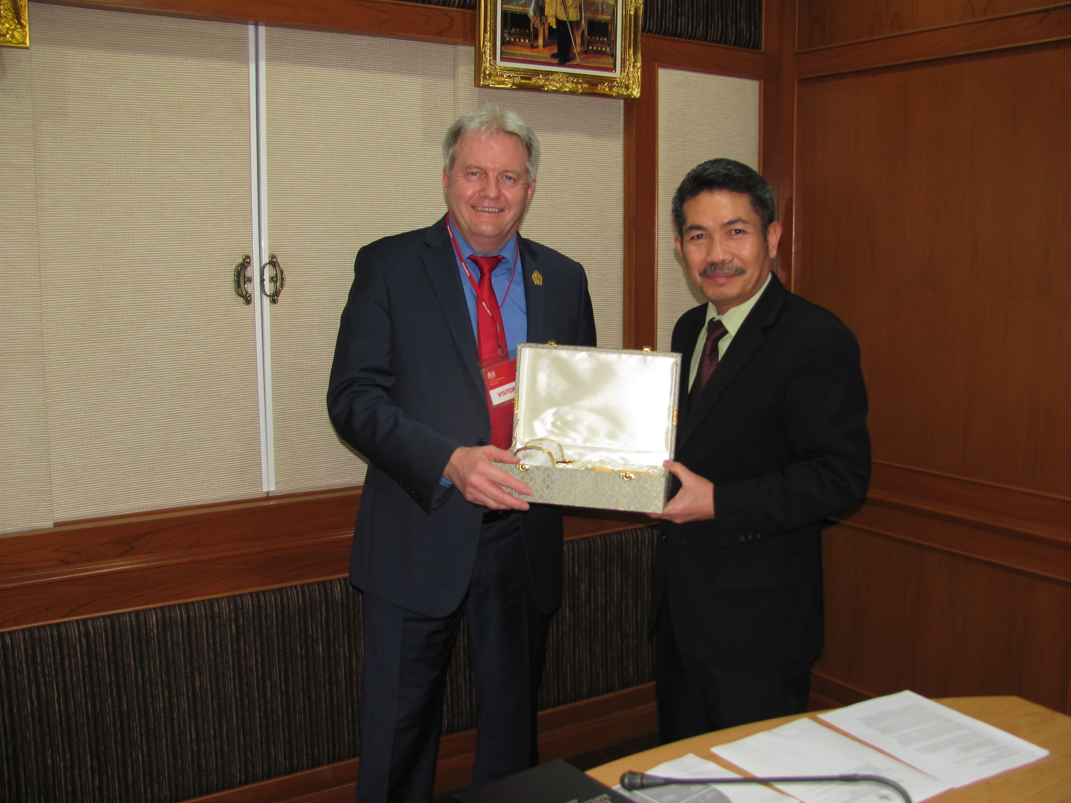 VC with Deputy Secretary-General of the Teachers' Council of Thailand